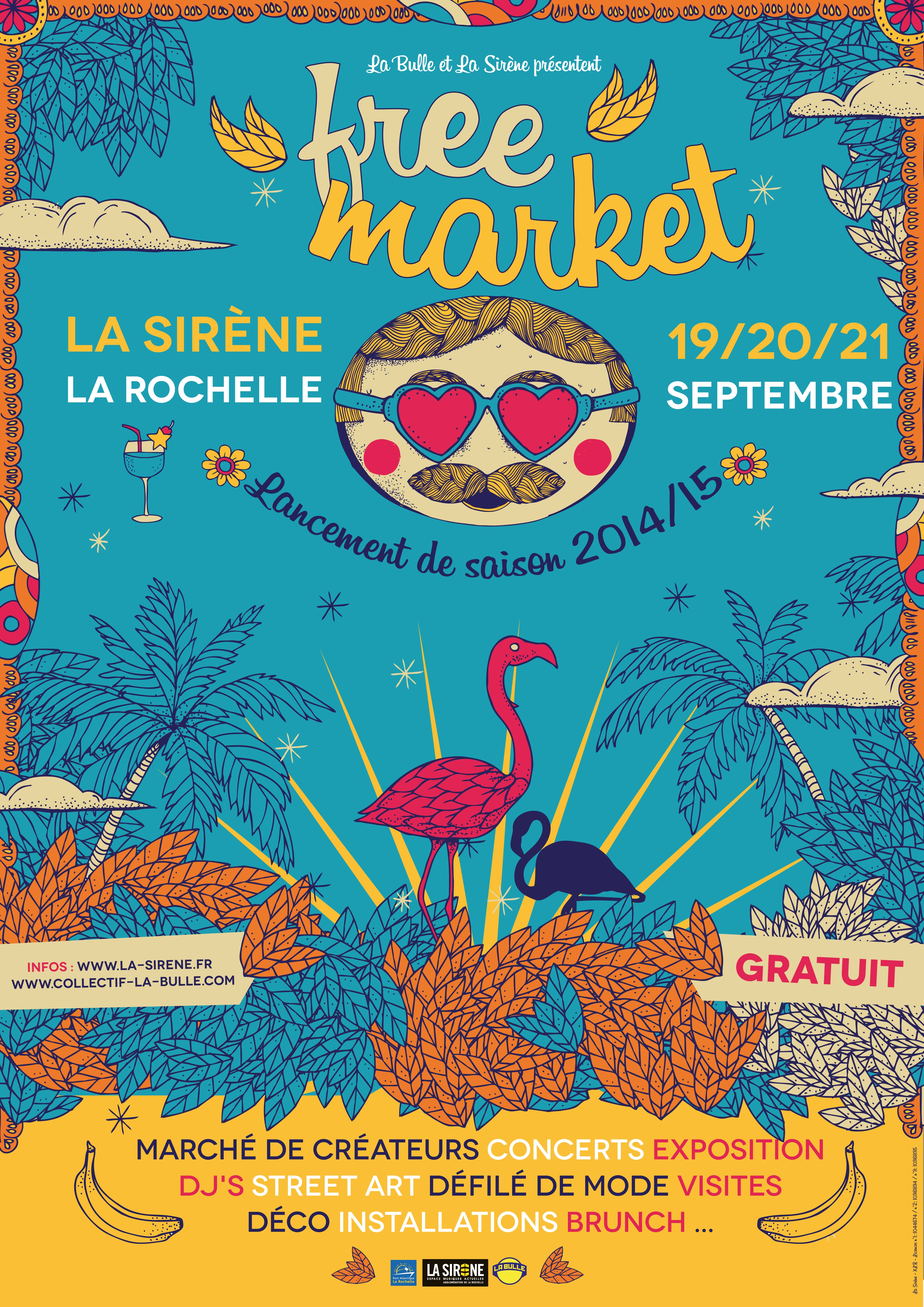 Affiche expo Free Market